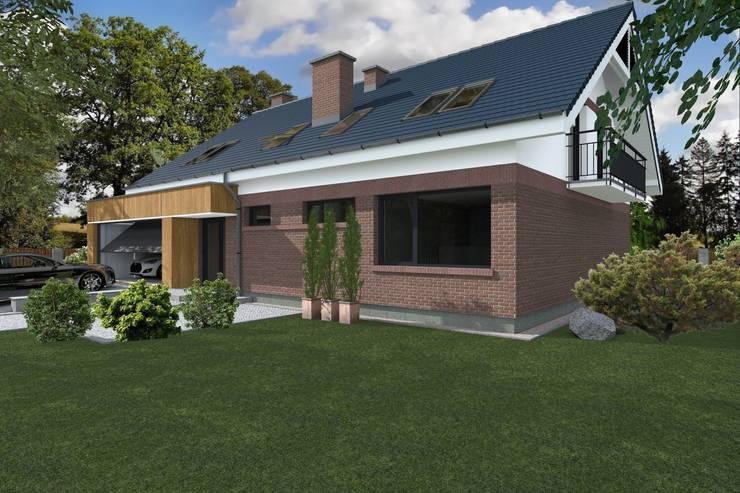 DZP-9 – dom energooszczędny i pasywny: styl , w kategorii Domy zaprojektowany przez ABC Pracownia Projektowa Bożena Nosiła - 1