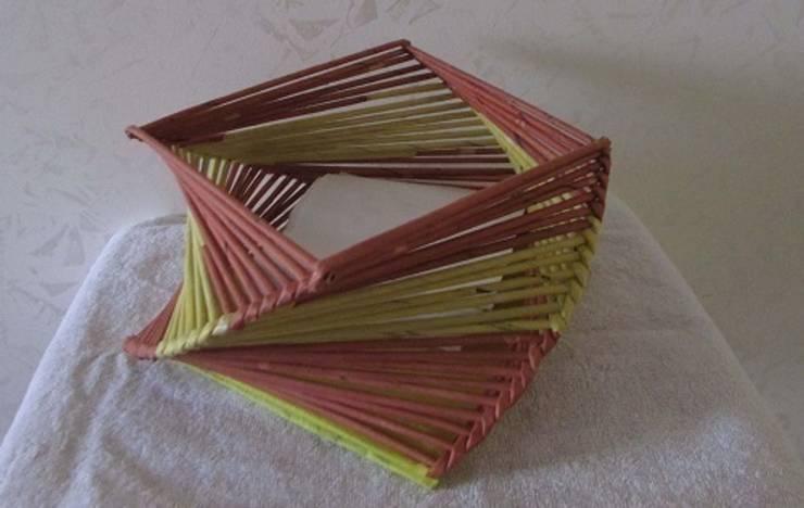 Sepet Evim – Gazete Kağıdı Sepet Tasarımı:  tarz Ev İçi