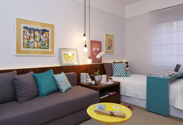 Dormitório AD:   por Duda Senna Arquitetura e Decoração,Moderno