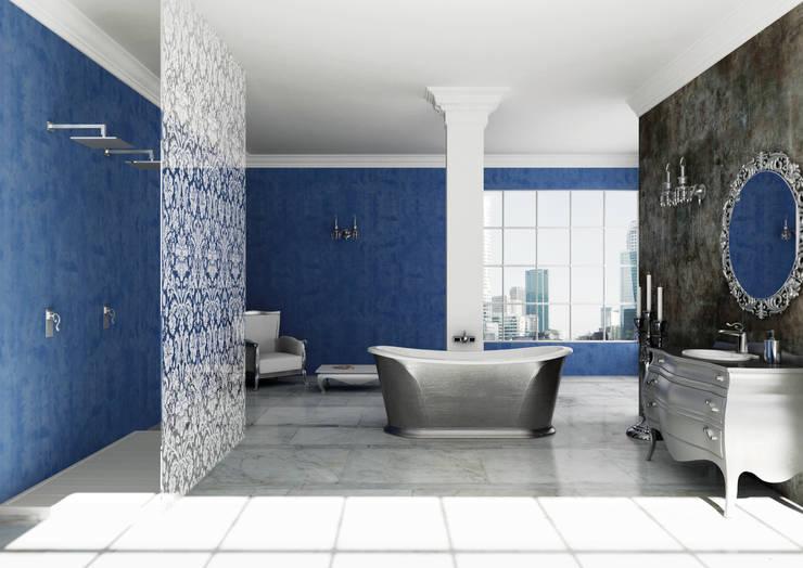Bagno Ortigia: Bagno in stile in stile Eclettico di Mamoli Rubinetteria