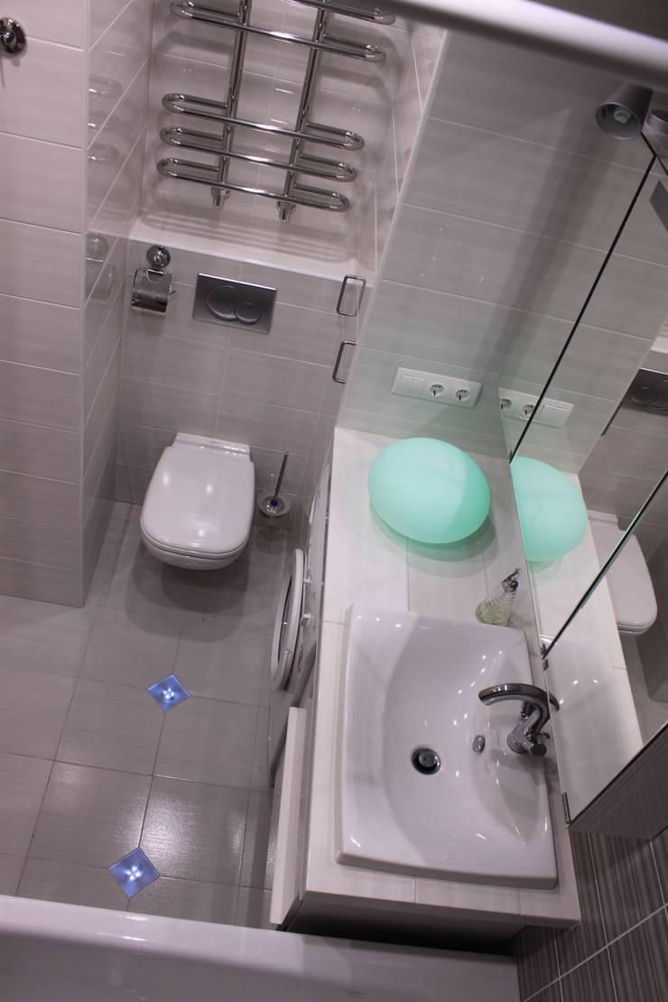 Дизайн-проект двухкомнатной квартиры. Крылатские холмы.: Ванные комнаты в . Автор – artzona.ru