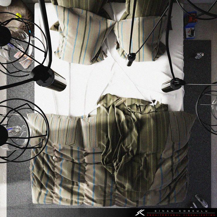 SK ARCHITECTURAL VISUALIZATION – BEDROOM:  tarz Yatak Odası
