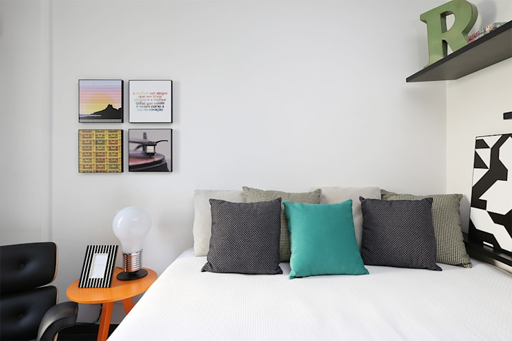Dormitório Quartos modernos por Duda Senna Arquitetura e Decoração Moderno