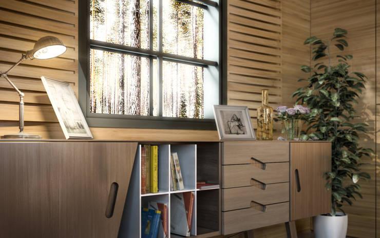 Ali İhsan Değirmenci Creative Workshop – Modern Wooden House (Modern Ahşap Ev):  tarz İç Dekorasyon