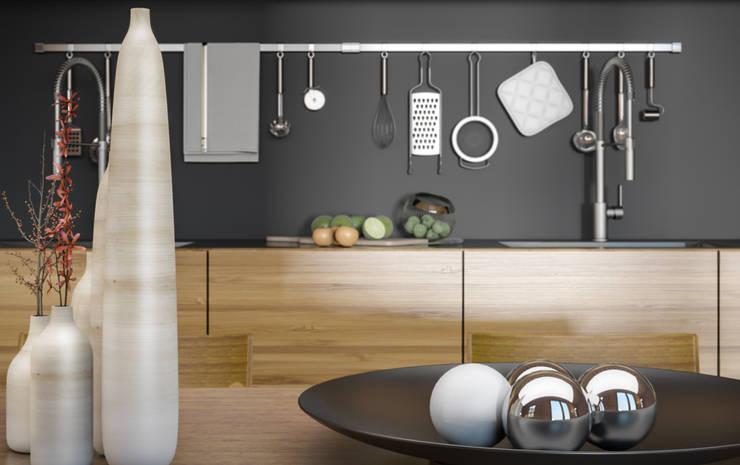 Ali İhsan Değirmenci Creative Workshop – Modern Wooden House (Modern Ahşap Ev):  tarz Mutfak
