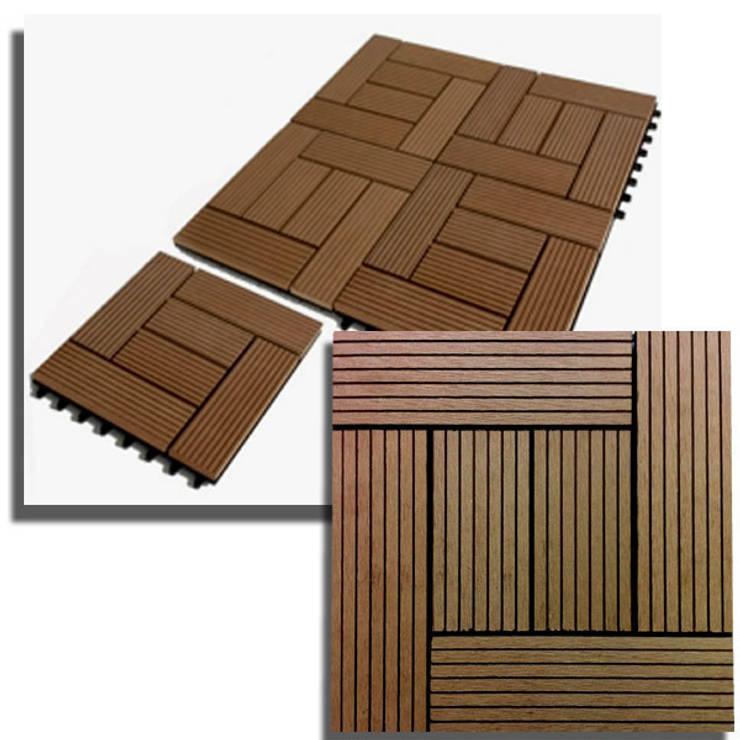 Group Enerji Yapı Dekorasyon – Decktropic 30x30 cm Karo Deck:  tarz Balkon, Veranda & Teras