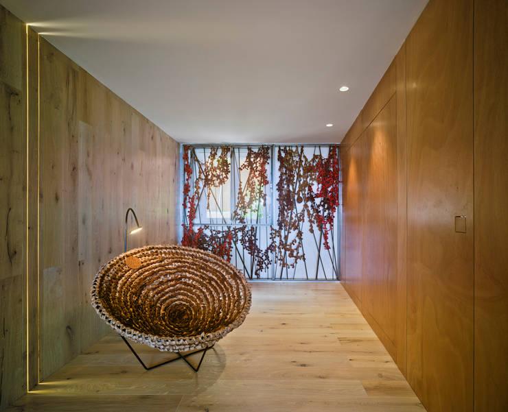 Casa Weston: Vestíbulos, pasillos y escaleras de estilo  de WOHA arquitectura