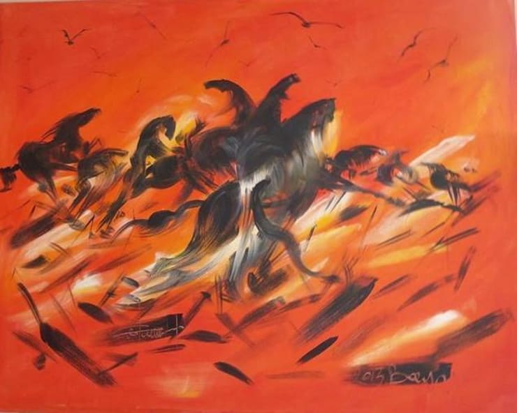 Ressam Bayro(Bayram SALTABAŞ) – YILKI ATLARI:  tarz