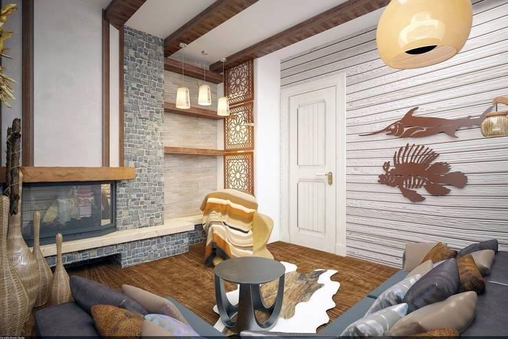 Спальня охотника и рыболова: Спальни в . Автор – Veronika Brown Studio, Рустикальный