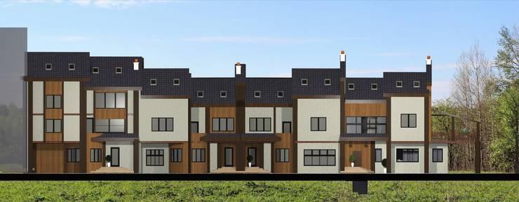 Общий фасад. 4 тауна: Дома в . Автор – Veronika Brown Studio