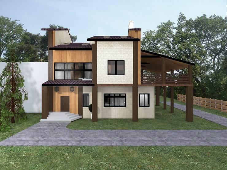 Фасад первого дома. Первые эскизы: Дома в . Автор – Veronika Brown Studio