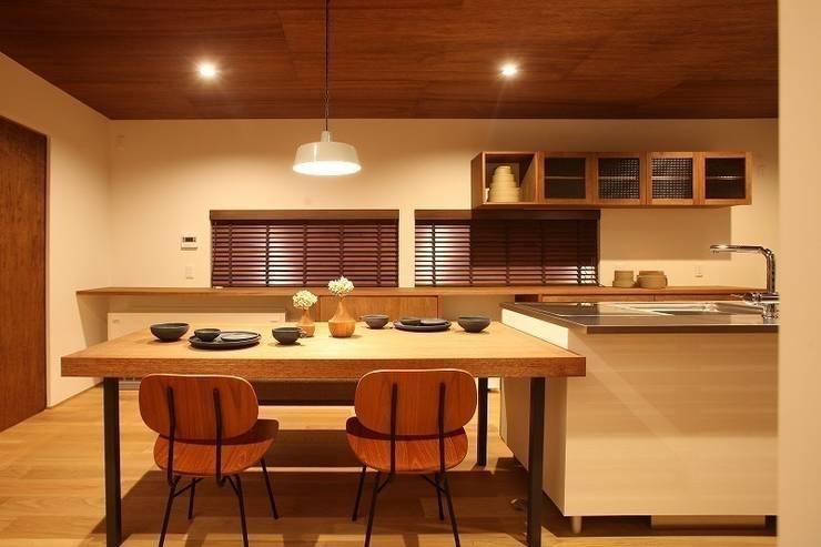 自然の中の三角屋根の家 / zuiun: zuiun建築設計事務所 / 株式会社 ZUIUNが手掛けたダイニングです。