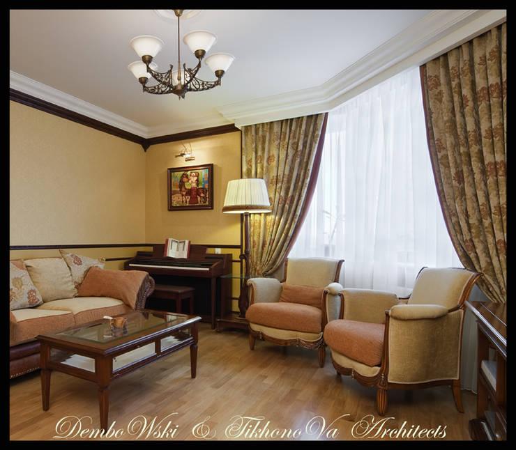 Квартира в стиле классического Арт Нуво: Гостиная в . Автор – D&T Architects