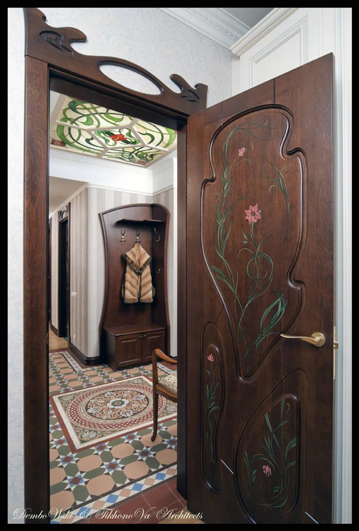 Квартира в стиле классического Арт Нуво: Коридор и прихожая в . Автор – D&T Architects
