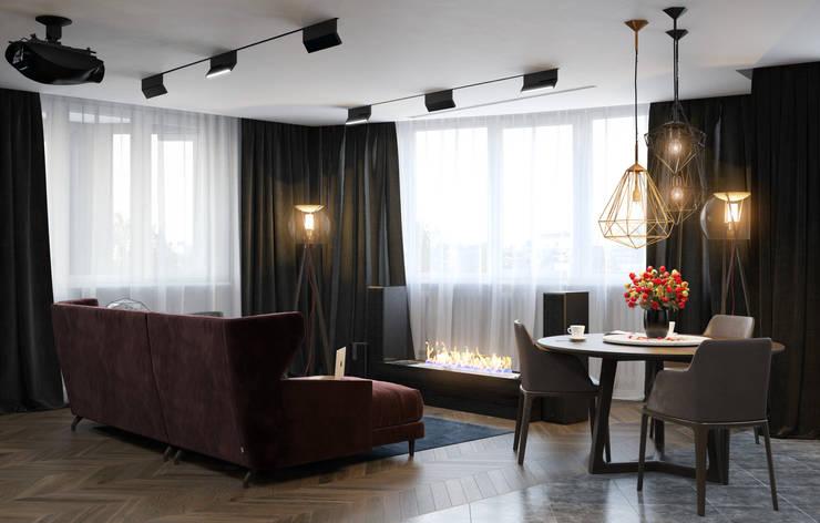 Verge of luxury: Гостиная в . Автор – VAE DESIGN GROUP™ , Эклектичный