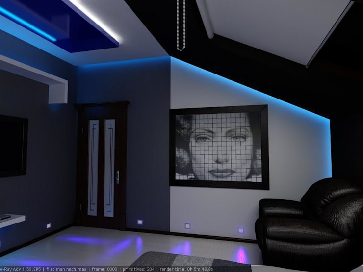 Спальня для молодого человека: Спальни в . Автор – Цунёв_Дизайн. Студия интерьерных решений.