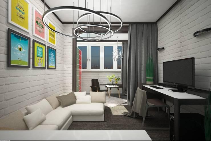 Детская комната для подростка хипстера: Детские комнаты в . Автор – Veronika Brown Studio, Лофт