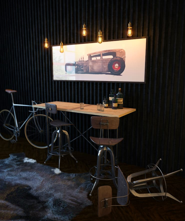 HotRod Bar: Гаражи в . Автор – VAE DESIGN GROUP™