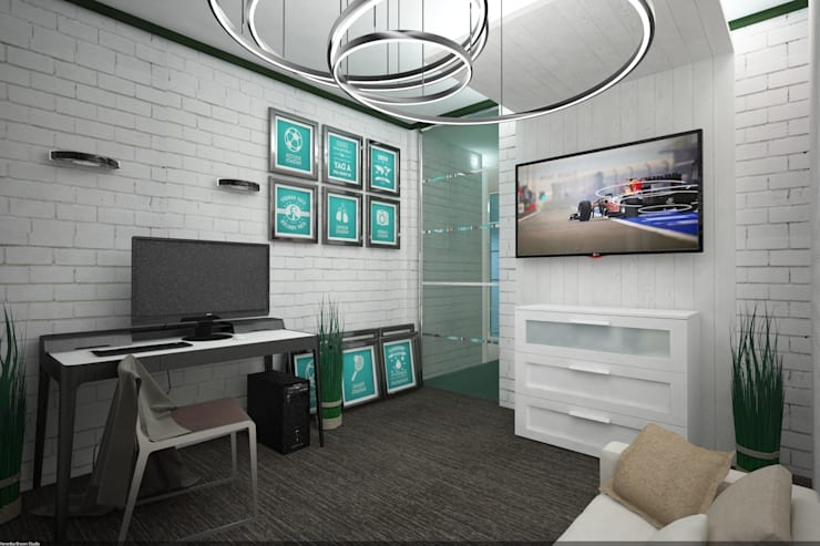 Детская комната для подростка хипстера: Детские комнаты в . Автор – Veronika Brown Studio