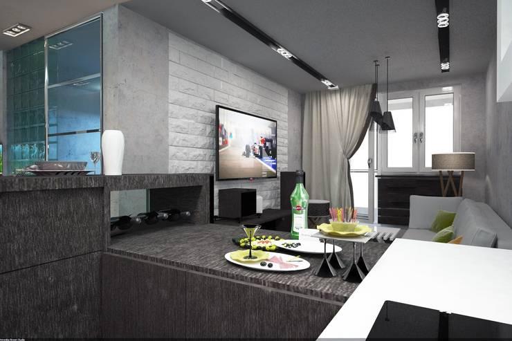 Квартира-студия в г.Пушкино: Гостиная в . Автор – Veronika Brown Studio, Лофт