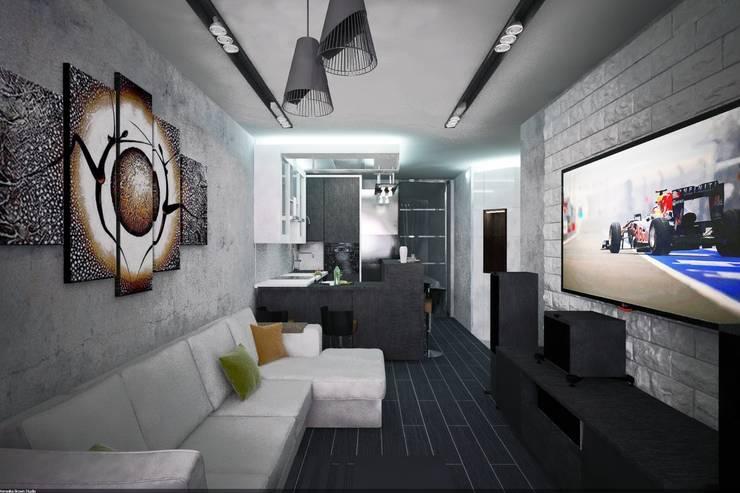 Квартира-студия в г.Пушкино: Гостиная в . Автор – Veronika Brown Studio