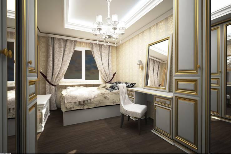 Классика на Бунинских аллеях: Спальни в . Автор – Veronika Brown Studio, Классический