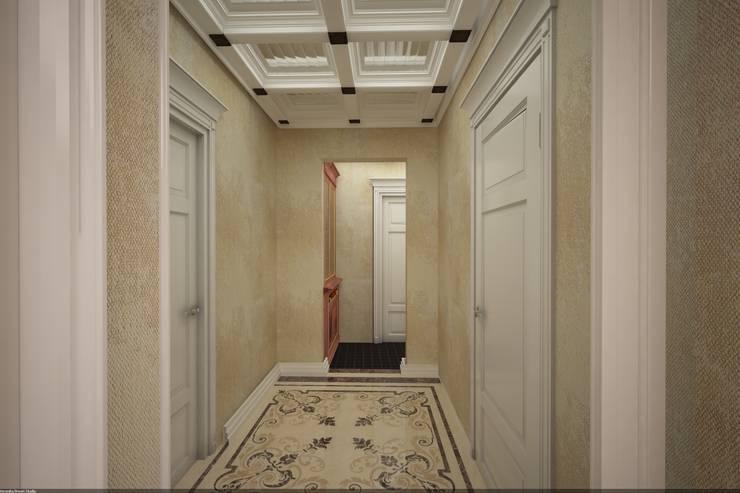Классика на Бунинских аллеях: Коридор и прихожая в . Автор – Veronika Brown Studio, Классический