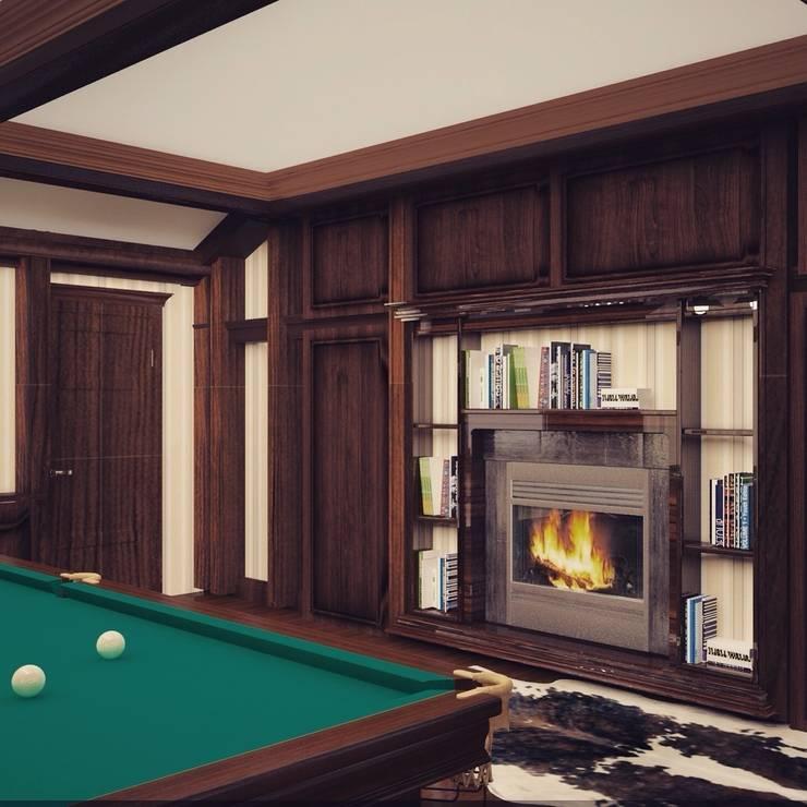 Бильярдная комната в С-Питербурге: Медиа комнаты в . Автор – Veronika Brown Studio