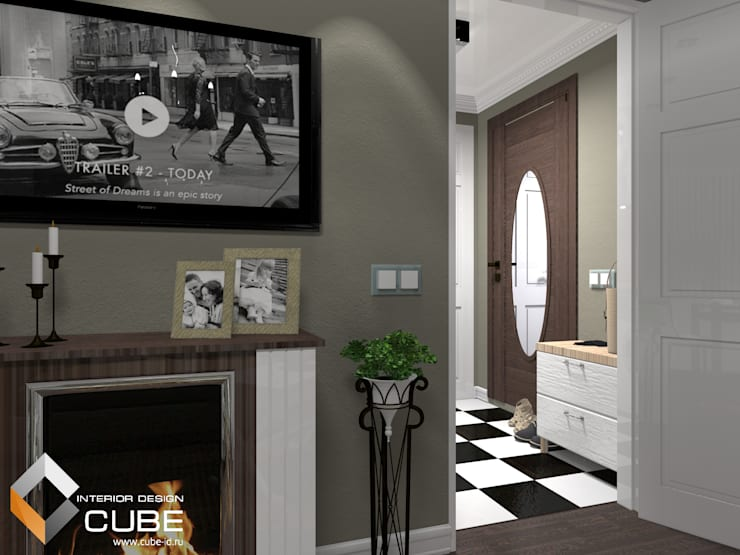 Дизайн малогабаритной квартиры: Коридор и прихожая в . Автор – Лаборатория дизайна 'КУБ'