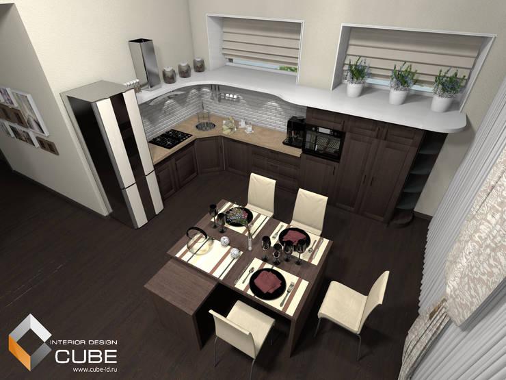 Дизайн кухни-гостиной загородного дома: Кухни в . Автор – Лаборатория дизайна 'КУБ'