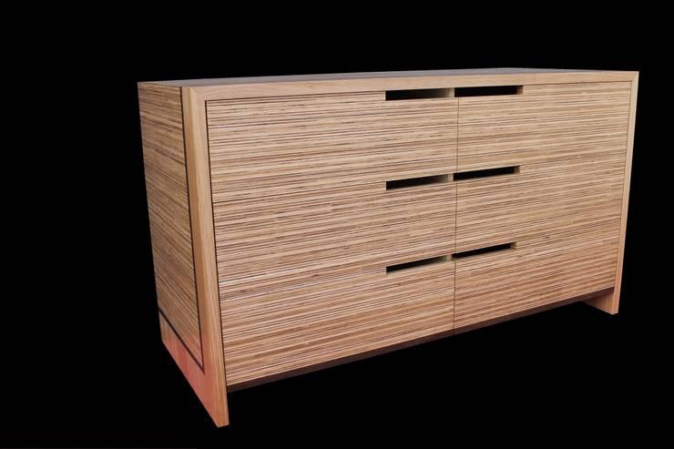 komoda: styl , w kategorii Salon zaprojektowany przez Deyna Design,