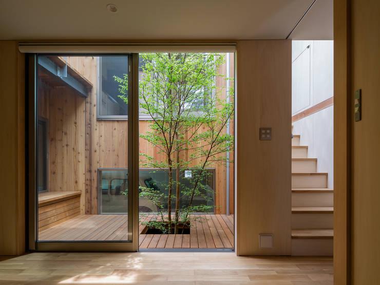 Jardins modernos por 株式会社リオタデザイン