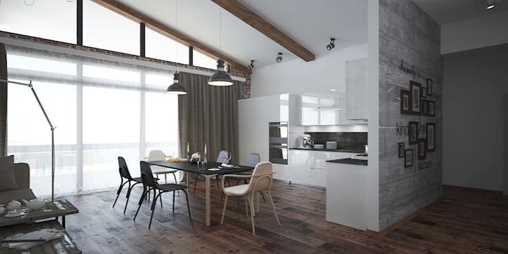 Salas / recibidores de estilo  por Мастерская архитектуры и дизайна FOX, Industrial