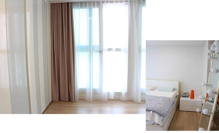 Master Bed Room Curtain: 모린홈의  침실