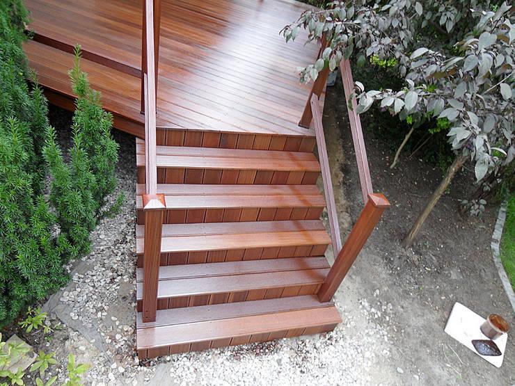 Taras drewniany. Realizacja w Koninie.: styl , w kategorii  zaprojektowany przez PHU Bortnowski,