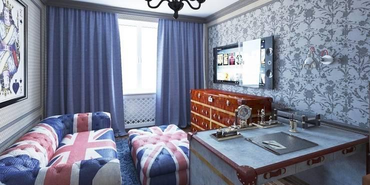 Дизайн-проект таунхауса 300 кв. м.: Спальни в . Автор – Мастерская архитектуры и дизайна FOX