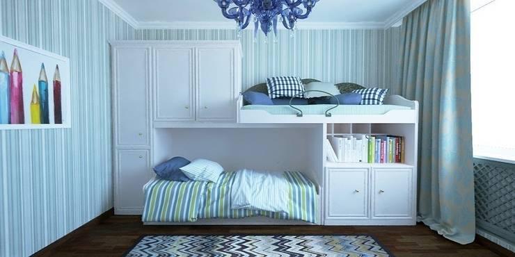 Дизайн-проект таунхауса 300 кв. м.: Детские комнаты в . Автор – Мастерская архитектуры и дизайна FOX