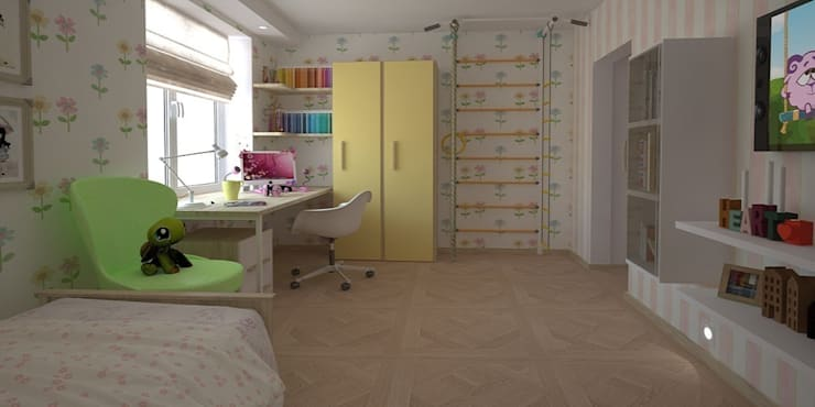Дизайн-проект квартиры 100 кв. м.: Детские комнаты в . Автор – Мастерская архитектуры и дизайна FOX