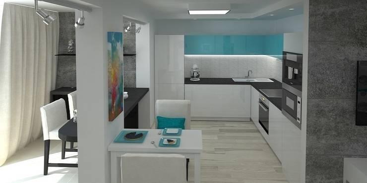 Дизайн-проект квартиры 100 кв. м.: Кухни в . Автор – Мастерская архитектуры и дизайна FOX