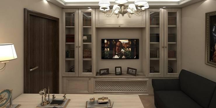 Дизайн-проект квартиры 100 кв. м.: Окна в . Автор – Мастерская архитектуры и дизайна FOX