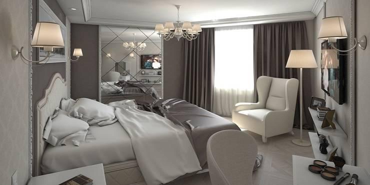 Дизайн-проект квартиры 100 кв. м.: Спальни в . Автор – Мастерская архитектуры и дизайна FOX
