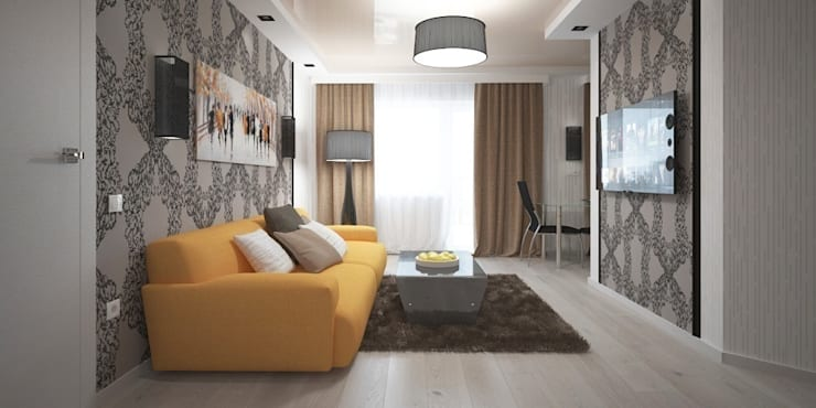 Ruang Keluarga oleh Мастерская архитектуры и дизайна FOX, Modern