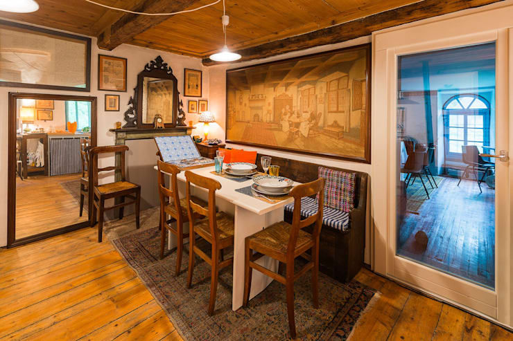 Mondomathis Maison Brocante: Sala da pranzo in stile  di PaoloNet di Paolo Brignone
