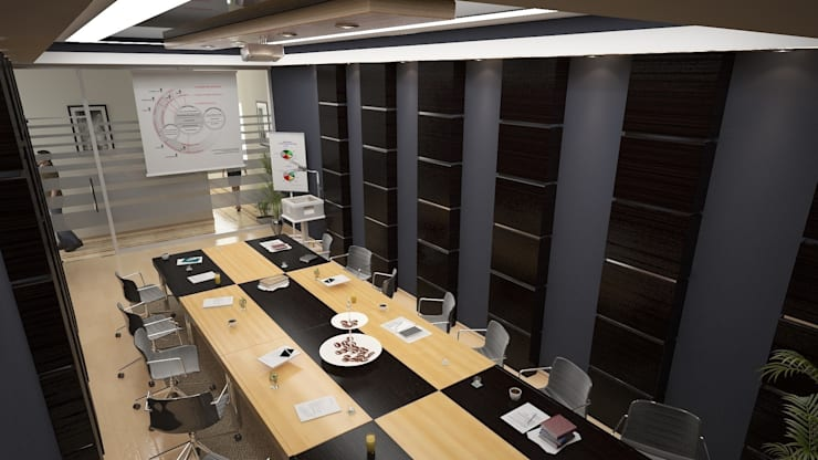 ROAS ARCHITECTURE 3D DESIGN – Meeting Room:  tarz Ofis Alanları