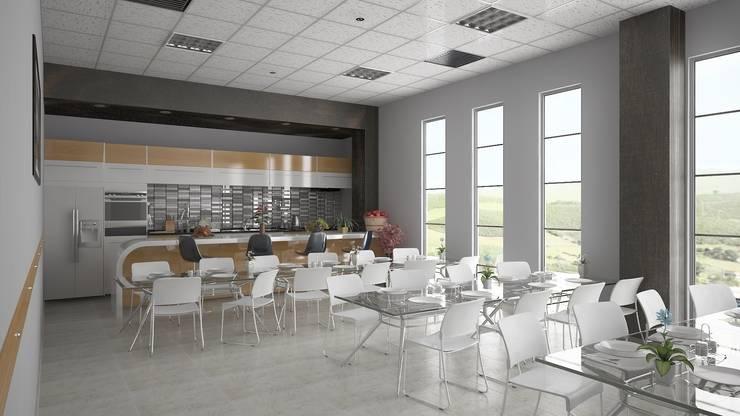 ROAS ARCHITECTURE 3D DESIGN – Kitchen:  tarz Ofis Alanları