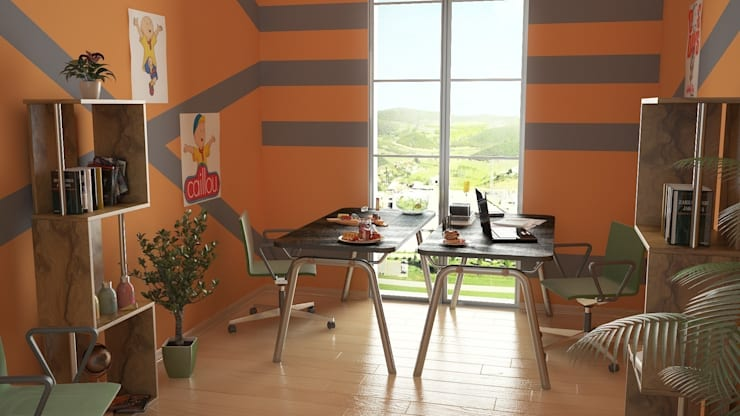 ROAS ARCHITECTURE 3D DESIGN – Kid's Room:  tarz Ofis Alanları