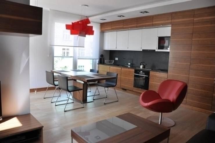 apartament w Poznaniu: styl , w kategorii Salon zaprojektowany przez ENDE marcin lewandowicz,Nowoczesny