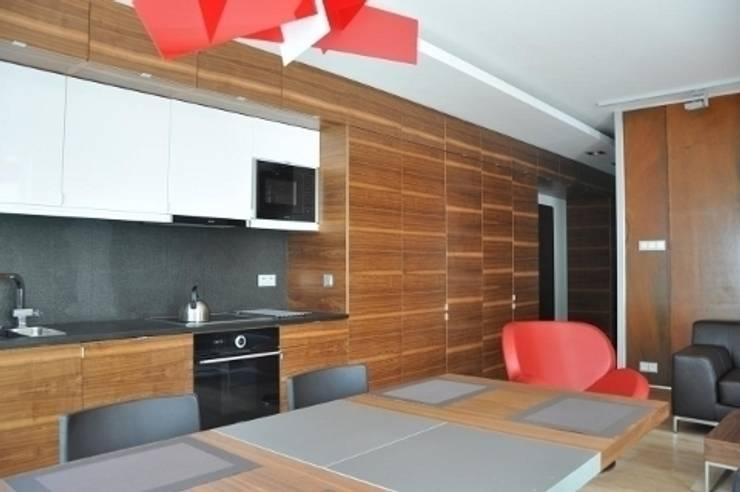 apartament w Poznaniu: styl , w kategorii Kuchnia zaprojektowany przez ENDE marcin lewandowicz,Nowoczesny