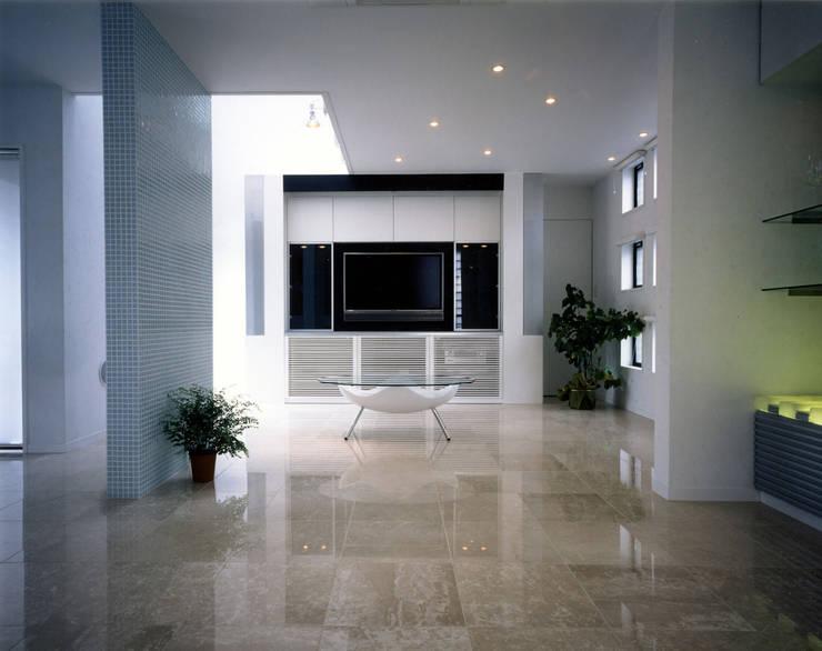 アンダンテの家: 加藤將己/将建築設計事務所が手掛けたリビングです。