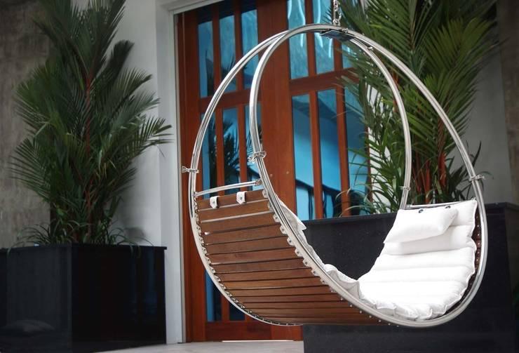 Balkon, veranda & terras door Trinity hammocks